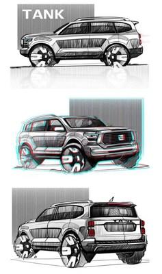 Nuevo modelo TANK SUV equipado con superpotencia 3.0T+ 9AT (PRNewsfoto/GWM)